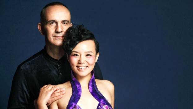 Komponist Lao Luo und Linna Gong.