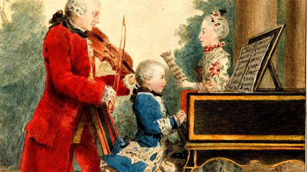 Gemälde der Familie Mozart.