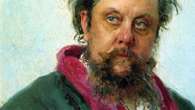 Portät des Komponisten Modest Mussorgski von Ilya Repin.