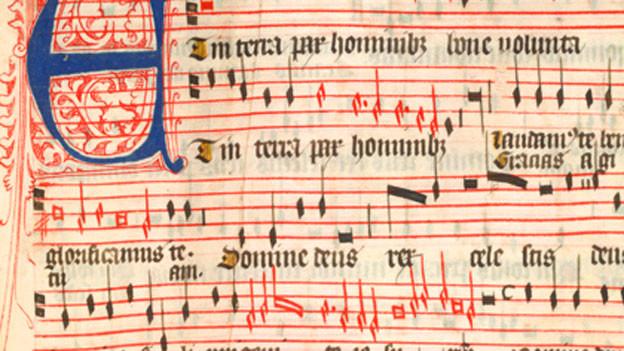 Beispiel eines mittelalterlichen Musikstücks