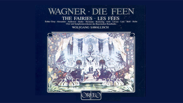 Cover der LP «Die Feen» von Richard Wagner unter der Ltg. von Wolfgang Sawallisch.