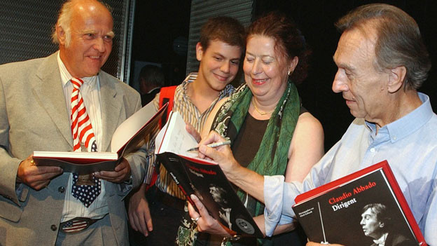 Claudio Abbado bei Buchpräsentation