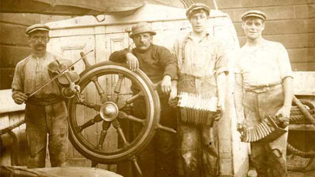 Englische Seeleute, ca. 1910.