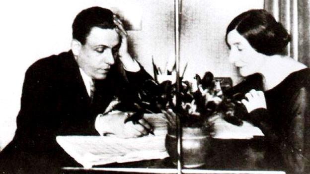 Francis Poulenc und Wanda Landowska.