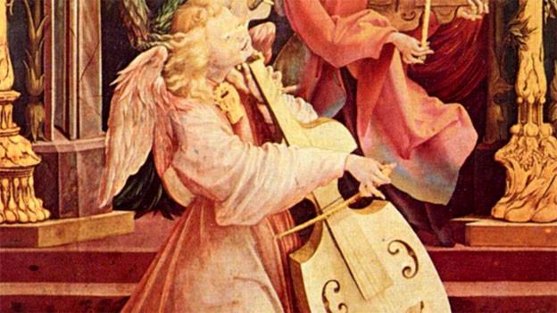 Ein Engel spielt die Viola da Gamba, Isenheimer Altar (ca. 1506–1515).