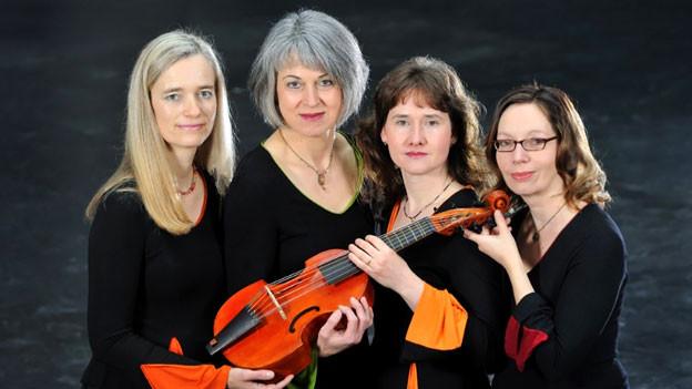 Die Mitglieder des Ensemble «Les Escapades»: Adina Scheyhing, Barbara Pfeifer, Franziska Finckh und Sabine Kreutzberger.