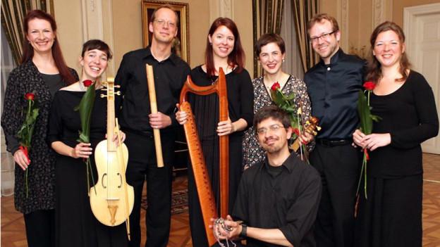 Das Ensembles Les Flamboyants.