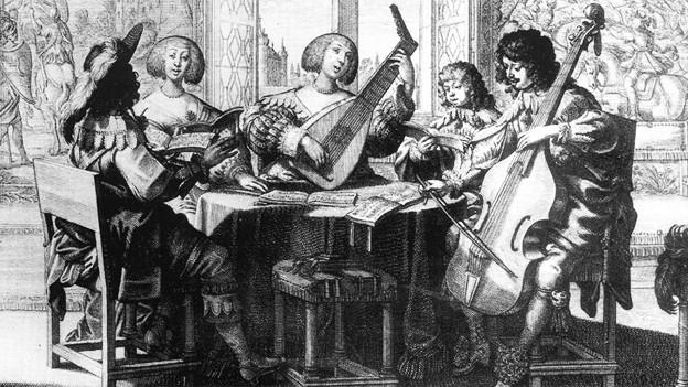 Alte Musik erlebt derzeit einen Boom. Darstellung von Musikern um 1635.