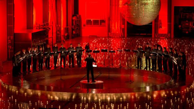 Das Origen Ensemble Vocal unter der Leitung von Clau Scherrer.