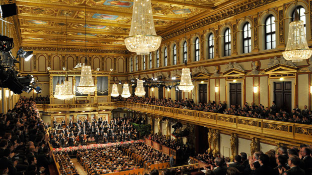 Die Wiener Philharmoniker bei der Generalprobe zum  Neujahrskonzert