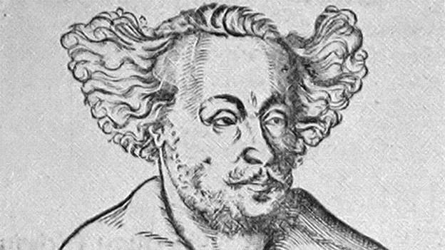 Johann Hermann Schein in einer zeitgenössischen Darstellung.