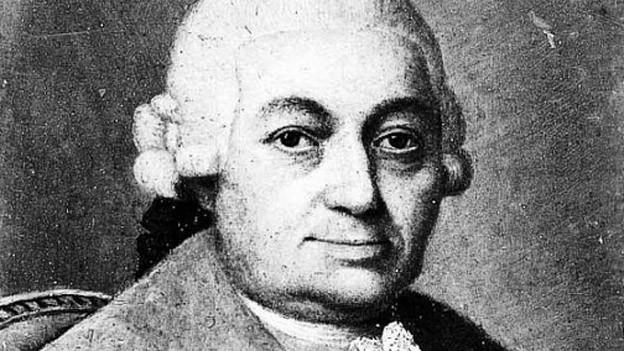Man sieht ein Porträt von Carl Philipp Emanuel Bach.