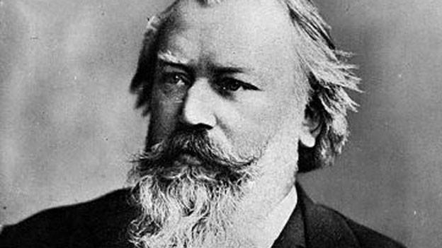 Johannes Brahms im Foto-Porträt.