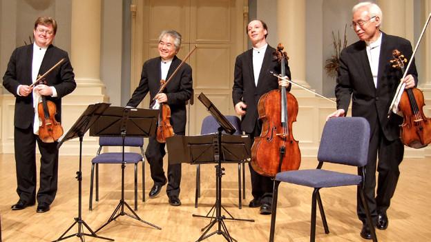 Das Quartett vor einem Konzert.