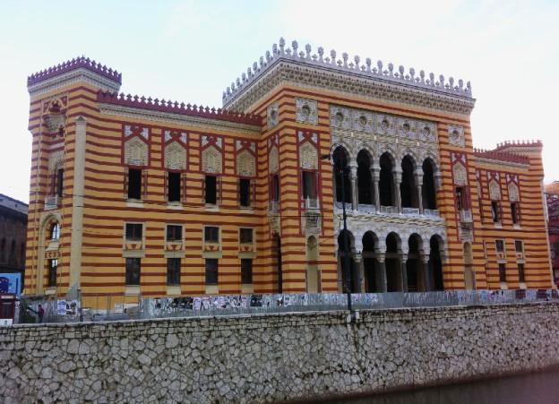 Die bosnische Nationalbibliothek Vijecnica.