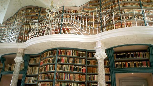 Ein reicher Schatz: Klosterbibliothek Einsiedeln.