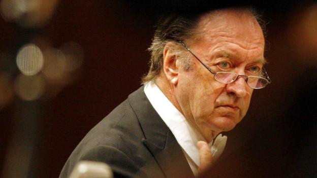 Der Dirigent Nikolaus Harnoncourt (2008).