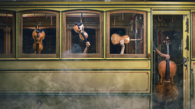 Das Galatea-Quartett resp. seine Instrumente.