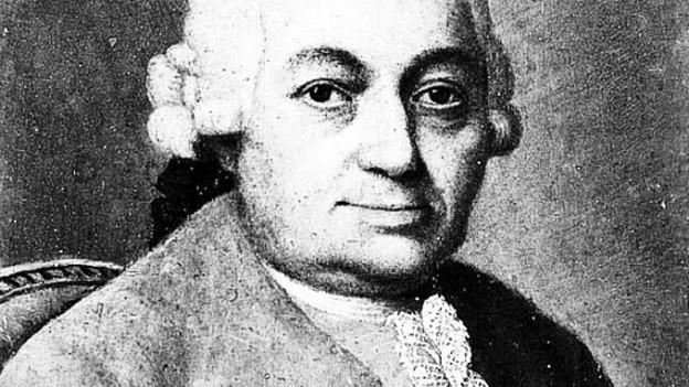 Carl Philipp Emanuel Bach im Porträt.
