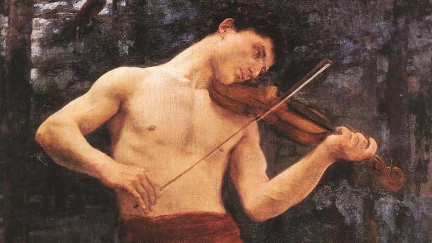 Orpheus spielt Geige.