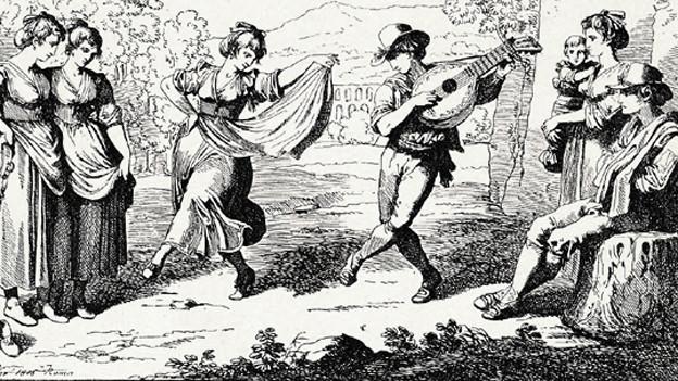 Tanzenden Menschen.