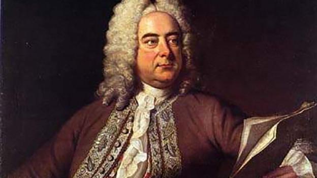 Ein Gemälde eines Mannes mit weiss gelockter Perücke.