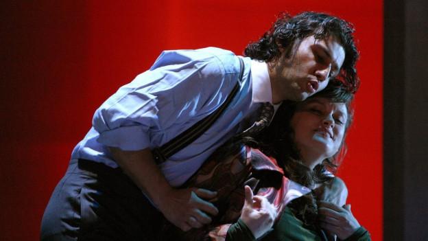 Szene aus dem Stück «L'incoronazione di Poppea» von Claudio Monteverdi.