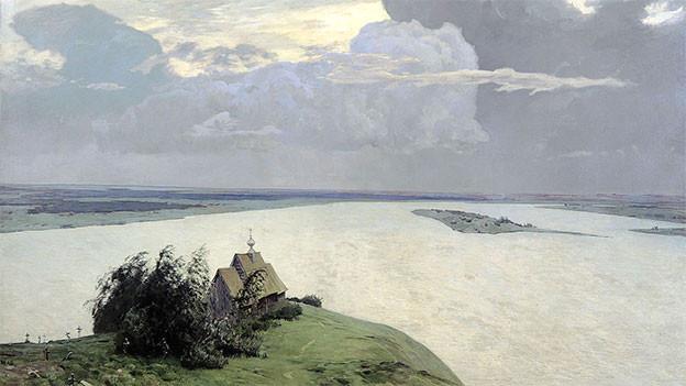 Über der ewigen Ruhe von Isaak Iljitsch Lewitan (1894).