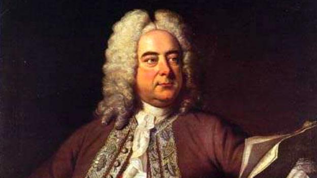 Georg Friedrich Händel in einem feinen Gewand.