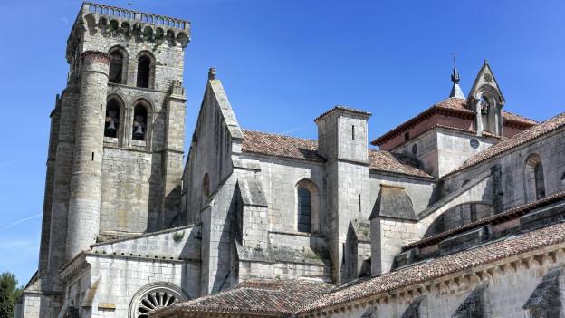 Das mittelalterliche Kloster «Las Hulegas» bei Burgos, Spanien.