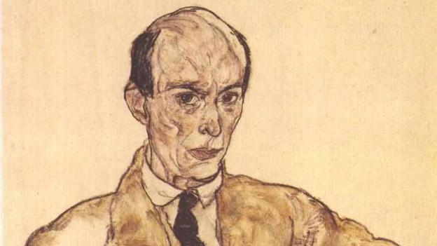 Arnold Schönberg, 1917 porträtiert von Egon Schiele.