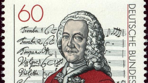 Briefmarke zum Gedenken Georg Philipp Telemann