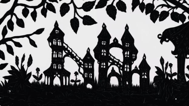 Scherenschnitt von Märchenschloss