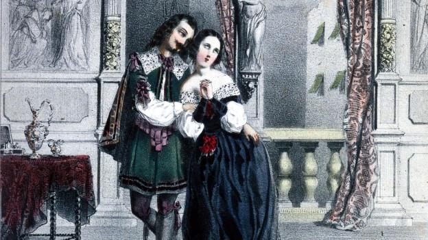 Illustration aus der Oper «Alessandro Stradella», die sich mit dem Leben des Komponisten beschäftigt.