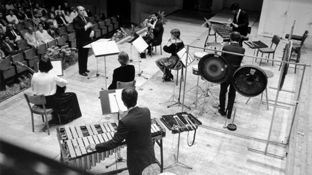 Ensemble Intercontemporain 1985 unter Leitung von Pierre Boulez