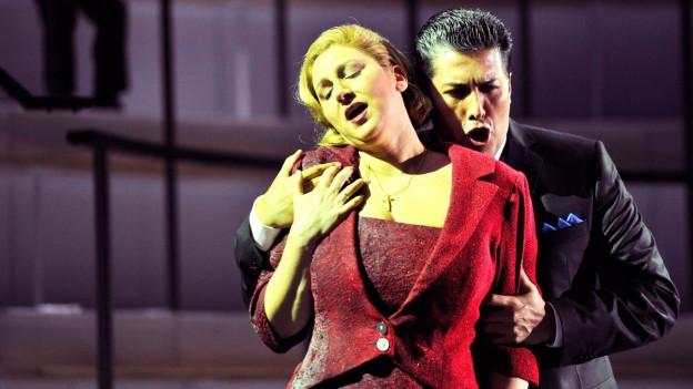 Bild aus der Verdioper «Un Ballo in maschera».