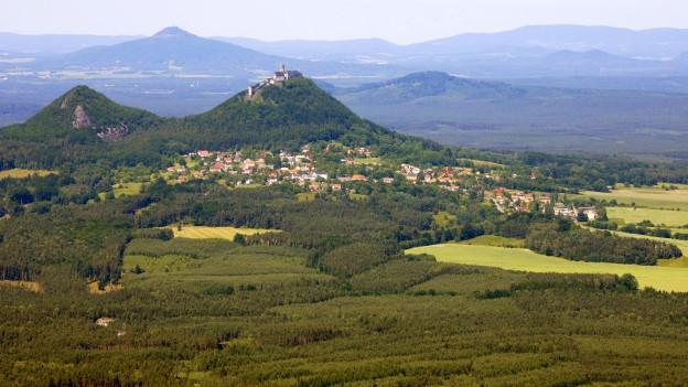 Luftaufnahme aus Böhmen