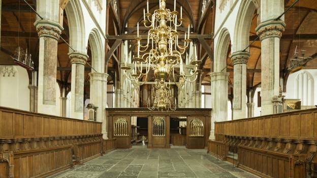 Innenansicht der «Oude Kerk» in Amsterdam.