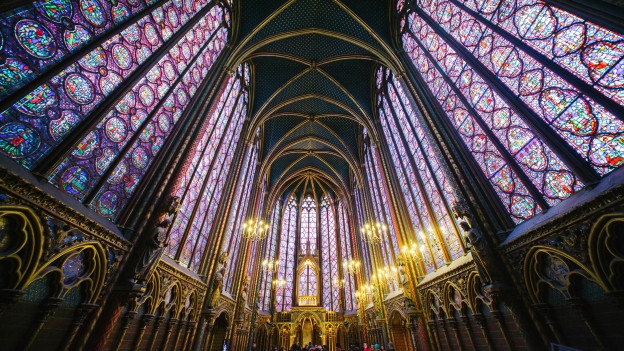 Die Sainte-Chapelle in Paris.
