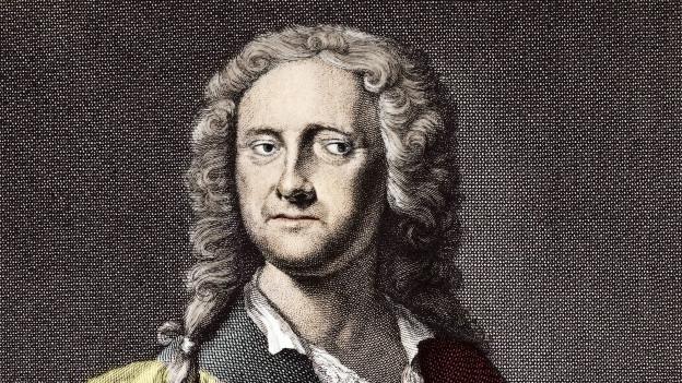 Historisches Porträt in Farbe von Georg Philipp Telemann
