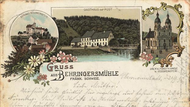 Bild einer alten Postkarte.