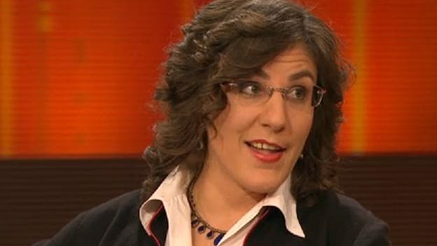 Karin Wenger während einer SRF-Sendung.