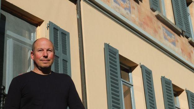 Textilkünstler und Gastgeber Werner Birnstiel