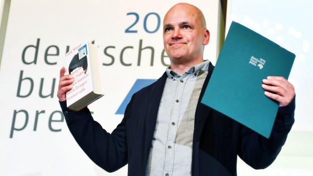 Frank Witzel bei der Preisverleihung des Deutschen Buchpreises.