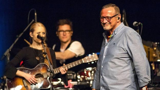 Konstantin Wecker während eines Konzertes.