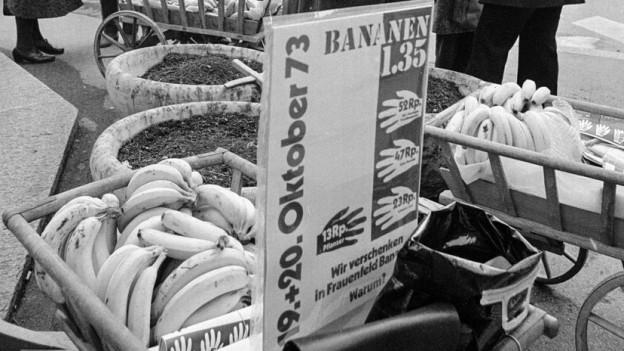 Pionierarbeit: Ursula Brunner verteilte in Frauenfeld Bananen.