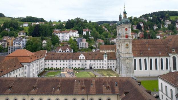 Die Kathedrale und der Stiftsbezirk St. Gallen in St. Gallen.