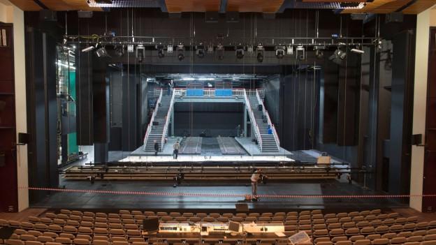 Blick auf die Bühne vom Theater Basel