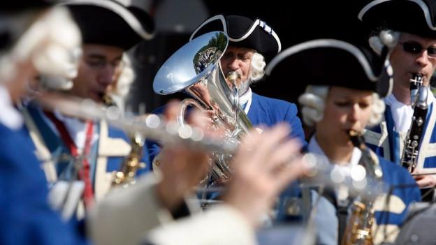 Blasmusiker an einer Parade