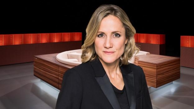 Barabara Lüthi steht im TV-Studio der Sendung «Club»